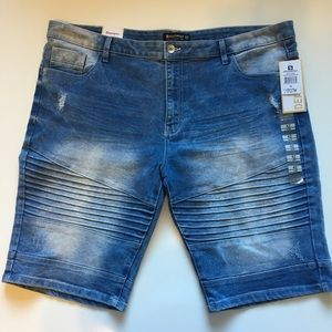 South Pole Denim Jeans Shorts Distressed NWT Sz 42